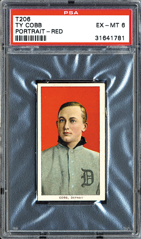 1909-11 T206 Ty Cobb Red Background PSA 6